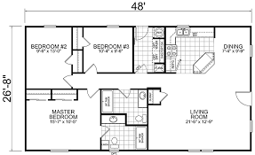 3 bedroom floor plan home 28 x 48 3 bed 2 bath 1280 sq ft house on the