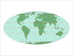 World Map With Longitude And Latitude Degrees by Fivemilleniumcatalog
