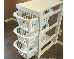 Laundry Room Basket Storage Laundry Basket Holder Etsy