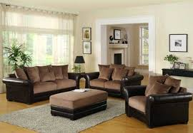 Living Room Ideas With Brown Sofas Combination Blue And Brown Living Room Small Home Ideas
