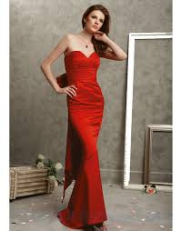 buy tailor made sweetheart satin fitted long red prom dresses with