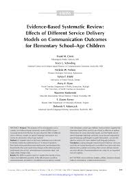 evidence based systematic review effects of different service