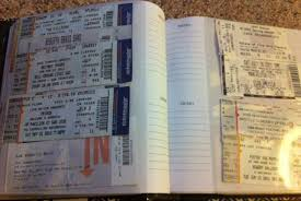 ticket stub album photo albums the best way to store your ticket stubs