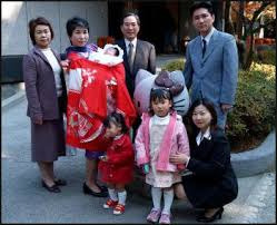 japanese families married in relations and