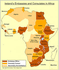 Map Of Egypt In Africa by Ireland Embassies And Consulates In Africa Geoscience Ireland