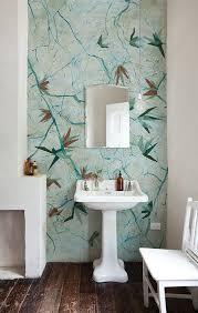 Wallpaper In Bathroom Ideas Bathroom Design Bathrooms Bright Bathroom Wallpaper