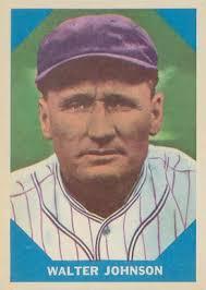 1960 fleer baseball greats walter johnson 6 baseball card value