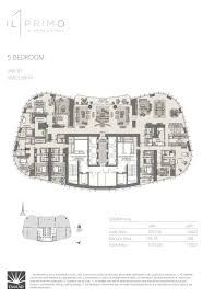 emaar il primo four and five bedrooms floor layout plan