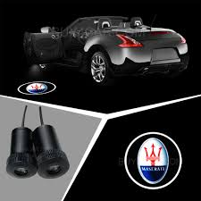 maserati car symbol laser car door lamp led ghost shadow car logo light for maserati