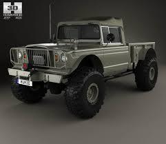 jeep comanche pickup truck pre jeep kaiser m715 olive drab ogre 1967 3d model hum3d