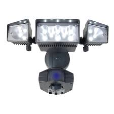 3 head security light shop utilitech 360 degree 3 head led motion activated flood light at