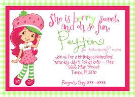 words for birthday invitation strawberry shortcake birthday invitations dancemomsinfo