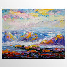mountain landscape painting abstract painting large art canvas