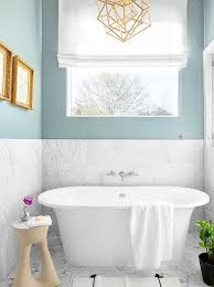 White Marble Floor Tile Spa Blue Bathroom Walls With White Marble Tiles Transitional