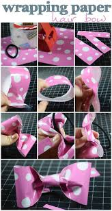 how to make hair bow make a hair bow out of wrapping paper skip to my lou