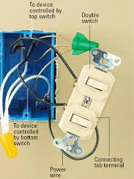 how to install a double light switch all about combination switches and receptacles better homes gardens