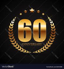 60 years anniversary template logo 60 years anniversary royalty free vector image