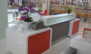 Modern Reception Desk Design Modern Reception Desk Design With And White High Gloss Color