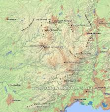 Map Of Central Europe Massif Central Physical Map
