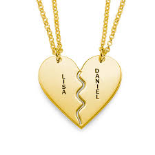 gold plated silver necklace images 18k gold plated silver breakable heart necklaces mynamenecklace jpg