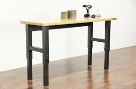 sold gladiator maple butcher block adjustable height workbench