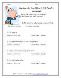 estimation worksheets worksheets