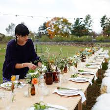 30th Birthday Dinner Ideas Outdoor Fall Party Harvest Table Hay Bale Seating Country Party