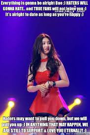 I Love You Bae Meme - we will always love you bae suzy and we are so happy that you