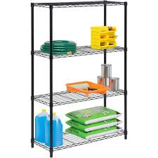 3 Shelf Wire Rack Work Choice 5 Tier Commercial Wire Shelving Rack Zinc Walmart Com