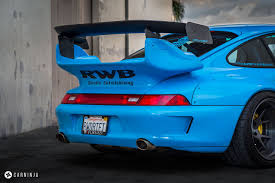 ruf porsche wide body insane riviera blue porsche rwb 911 rare cars for sale