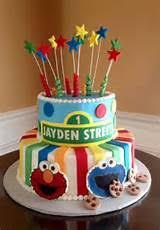 sesame street 1st birthday cake ideas 7477