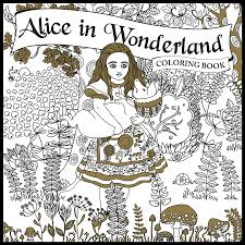 flip through alice in wonderland coloring book by piccadilly youtube
