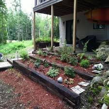 decoration in railroad ties landscaping ideas best railroad ties