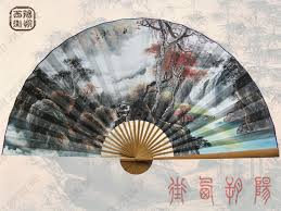 oriental fans wall decor chinese fan hand painted wall decorations autumn gl fn1