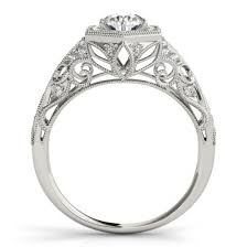 vintage halo engagement rings hexagon halo engagement ring new wedding ideas trends