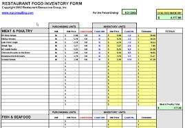 Inventory Management Spreadsheet 7 Restaurant Inventory Spreadsheet Procedure Template Sle
