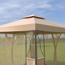 patio gazebo canopy 2 tier 10 u0027 x 10 u0027 patio steel gazebo canopy shelter canopies
