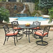 How To Clean Cast Aluminum Patio Furniture Hampton Bay Statesville Shell 5 Piece Aluminum Outdoor Dining Set