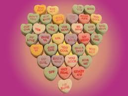 valentines heart candy sayings candy hearts pink wallpaper valentines day by thebizzeebee on
