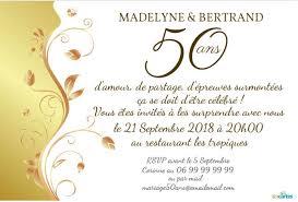 texte anniversaire de mariage 50 ans invitation anniversaire mariage plante d or 123 cartes