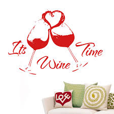 wine time wall stickers decals red wine time wall decal lounge