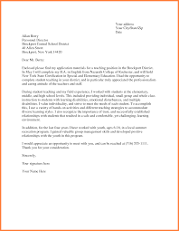 Endearing Resume and Cover Letter Examples for Teachers for Your