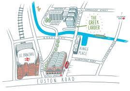 St Pancras Floor Plan Contact Us The Greek Larder