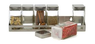 modern kitchen jars stainless rack in design decorating