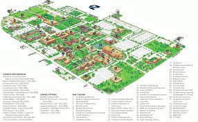 Ok State Campus Map by Campus Map Uco Visitor Guide