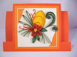 paper greeting cards easter card handmade greeting card paper quilling card with