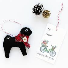 pug ornament black pug lydia pugs