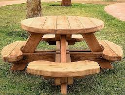 Build Wooden Picnic Table by Circular Picnic Table Plans Starrkingschool