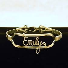 Personalized Name Bracelet Custom Personalized Sterling Silver Filled Wire Name Bracelet By
