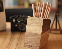 wood pen holder etsy